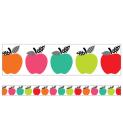 Black, White & Stylish Brights Apples Straight Borders Cover Image