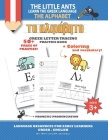 The LIttle Ants Learn the Greek Language - The Alphabet: Greek Letter Tracing Practice Book Cover Image
