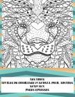 Livres de coloriage Mandala pour adultes - Pages épaisses - Animaux - les Lions Cover Image