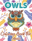 Owls Coloring Book For Adults: An Adult Coloring Book with Fun Owl Designs, and Relaxing Flower Patterns Cover Image
