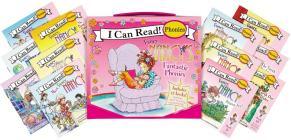 Fancy Nancy's 12-Book Fantastic Phonics Fun!: Includes 12 Mini-Books Featuring Short and Long Vowel Sounds (My First I Can Read) Cover Image