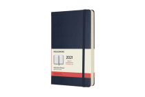 Moleskine 2021 Daily Planner, 12M, Large, Sapphire Blue, Hard Cover (5 x 8.25) Cover Image