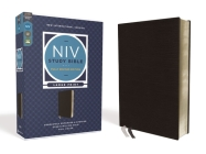 NIV Study Bible, Fully Revised Edition, Large Print, Bonded Leather, Black, Red Letter, Comfort Print Cover Image
