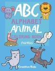 ABC Alphabet Animal Coloring Book For Kids: A Fun Game for 3-8 Year Old - Picture For Toddlers & Grown Ups - Letters, Shapes, Color Animals-8.5 x 11