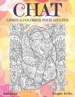 Livres à colorier pour adultes - Images drôles - Animaux - Chat Cover Image
