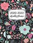 2020-2022 Monthly Planner: Flower Cover 2020-2022 Three Year Planer with Holidays Calendar 36 Months Agenda Yearly Goals Academic Schedule Organi Cover Image