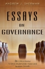 Essays on Governance: 36 Critical Essays to Drive Shareholder Value and Business Growth Cover Image