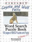 Circle It, Coyote and Wolf Facts, Word Search, Puzzle Book Cover Image