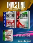 Stock Market for Beginners, Real Estate Investing, Negotiating: 3 books in 1! Learn Stocks, Bonds & ETFs & Profit from Investing in Residential Proper Cover Image