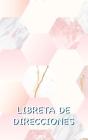 Libreta de Direcciones: Libro de Direcciones Mármol Rosa con Espacio Suficiente para 150 Nombres, Direcciones, Números de Teléfono de Casa y M Cover Image