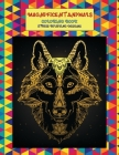 Magnificent Animals Coloring Book - Stress Relieving Designs Cover Image