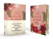 Niv, Artisan Collection Bible, Cloth Over Board, Pink Floral, Designed Edges Under Gilding, Red Letter Edition, Comfort Print Cover Image