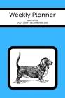 Weekly Planner: Basset hound; 18 months; July 1, 2019 - December 31, 2020; 6