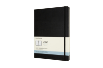 Moleskine 2021 Monthly Planner, 12M, Extra Large, Black, Hard Cover (7.5 x 9.75) Cover Image