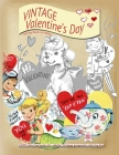 VINTAGE Valentines day coloring books for adults: LOVE coloring books for adults Vintage grayscale colring book Cover Image