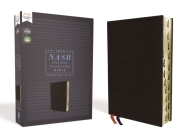 Nasb, Thinline Bible, Bonded Leather, Black, Red Letter Edition, 1995 Text, Thumb Indexed, Comfort Print Cover Image