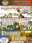 Great Stories of Courage: The Call of the Wild, the Red Badge of Courage, Treasure Island (Bank Street Graphic Novels) Cover Image