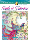 Creative Haven Birds and Blossoms Coloring Book (Adult Coloring) Cover Image