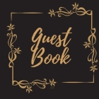 Guest Book - Gold Frame #2 For any occasion Light Green Color Pages 8.5 x 8.5 Inches 82 pages Cover Image