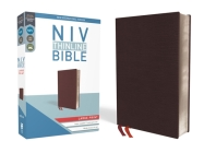 NIV, Thinline Bible, Large Print, Bonded Leather, Burgundy, Red Letter Edition Cover Image