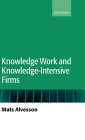 Knowledge Work and Knowledge-Intensive Firms Cover Image
