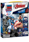 Drawmaster Marvel Avengers: Captain America Super Stencil Kit: 4 Easy Steps to Draw Your Heroes Cover Image