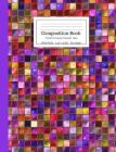Composition Book Colorful Purple Mosaic Tiles Wide Rule: Bright Shiny Purple Blue Pink Yellow Amber Magenta Notebook for Kids, Teens, Middle, High Sch Cover Image