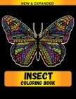 Insect Coloring Book: For Best Gift for Adults and Grown Ups Cover Image