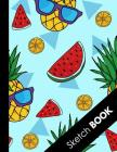 Sketch Book: Large Sketchbook: Perfect Gift For Creative Artists, Great for Drawing And Doodling ( Awesome Pineapple Summer Pattern Cover Image