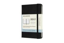 Moleskine 2020-21 Monthly Planner, 18M, Pocket, Black, Hard Cover (3.5 x 5.5) Cover Image