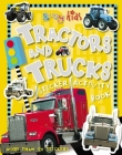 Busy Kids Tractors and Trucks Sticker Activity Book [With Stickers] Cover Image