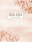 2020-2024 Five Year Planner: 2020-2024 Monthly Planner 8.5 x11 60 Months Calendar Featuring 2020-2024 Calendar Weekly Planner Monthly Schedule Orga Cover Image