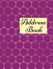 Address Book: Contacts Book, Alphabetical Address Book, Important Dates Tracker - 8.5x11 Inch Cover Image