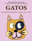 Livro para colorir para crianças de 4-5 anos (Gatos): Este livro tem 40 páginas coloridas sem stress para reduzir a frustração e melhorar a confiança. Cover Image
