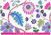 Fantasy Floral Thank You Notes Cover Image