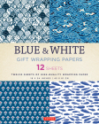 Blue & White Gift Wrapping Papers: 12 Sheets of High-Quality 18 X 24 Inch Wrapping Paper Cover Image