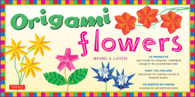 Origami Flowers [With 98 Sheets of Paper] Cover Image