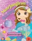 Meerjungfrau-Malbuch, Scherenfertigkeit: Tolles Mal-und Beschäftigungsbuch für Kinder im Alter von 4-10 Jahren Cover Image