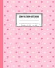 Composition Notebook: Pink Heart Pattern Wide Ruled Notebook Cover Image