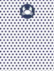 Crab Nautical Navy Polka Dot Notebook - Quad Ruled 5x5: 8.5 x 11 - 101 Sheets / 202 Pages Cover Image