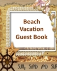 Beach Vacation Guest Book Cover Image