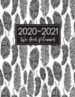 2020-2021 Two Year Planner: Feather Cover 2 Year Monthly Appointment Notebook 24 Months Planner and Calendar Two Year Agenda Schedule Organizer Bu Cover Image