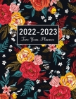 2022-2023 Two Year Planner: Red Watercolor Flower Cover, 24 Months Monthly Planner Calendar Agenda Schedule Organizer January 2022 to December 202 Cover Image