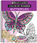 Brain Games - Color by Number: Butterflies Cover Image