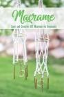 Macrame: Easy and Creative DIY Macrame for Beginners: Diy Macrame Book Cover Image