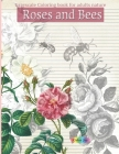 Roses And Bees: Grayscale Coloring book for adults nature Cover Image