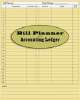 Bill Accounting Ledger Book Paper: Accounting ledger book - general ledger accounting book - monthly bookkeeping record book Cover Image