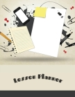 Lesson Planner: 12 Month Weekly Academic Year Organizer for Teachers & Homeschool Parents Cover Image