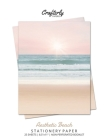 Aesthetic Beach Stationery Paper: Cute Letter Writing Paper for Home, Office, Letterhead Design, 25 Sheets Cover Image