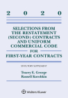 Selections from the Restatement (Second) Contracts and Uniform Commercial Code for First-Year Contracts: 2020 Statutory Supplement (Supplements) Cover Image